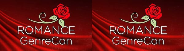Romance Conventions, image of the words Romance GenreCon with a rose and red background, books