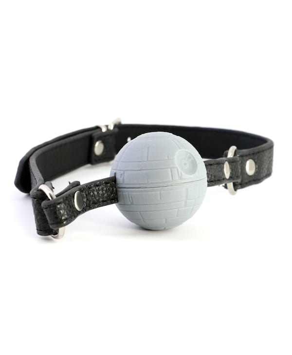 Death Star-inspired ball gag from Geeky Sex Toys