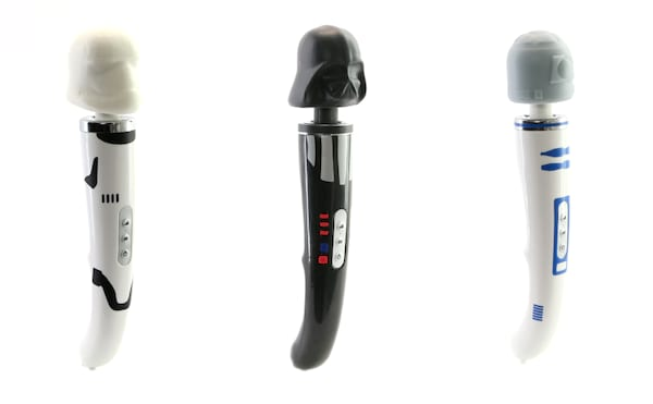 darth vader, Stormtrooper, and R2-D2 vibrators from Geeky Sex Toys