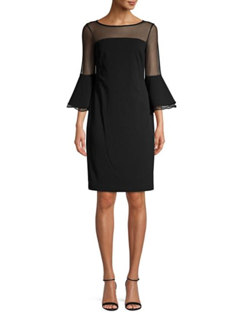 Illusion Bell-Sleeve Sheath Dress from Lord and Taylor