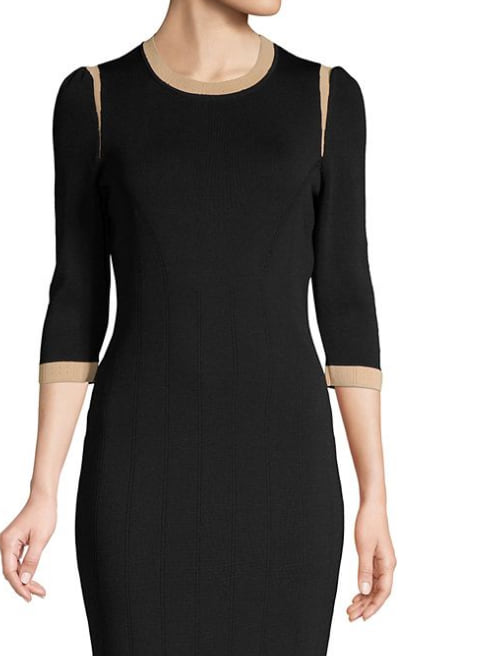 Gaspare Seamed Bodycon Dress from Lord and Taylor