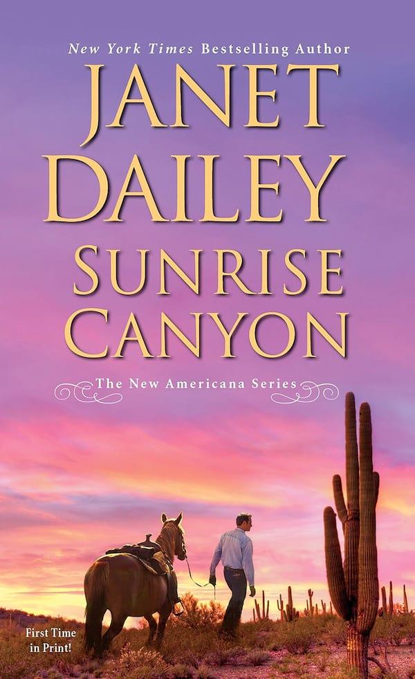 Janet Dailey Romance Novels, cover of Sunrise Canyon by Janet Dailey, books