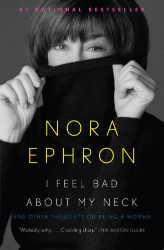 pictures of Nora Ephron book covers with her on the cover holding her face or turtleneck