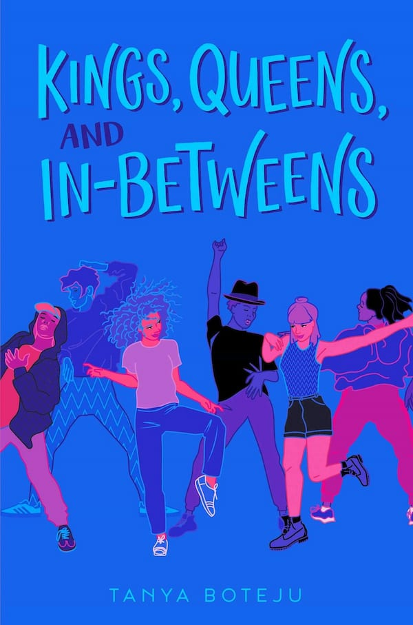 LGBTQ YA Romance Novels, cover of Kings, queens, and In-Betweens by Tanya Boteju, books