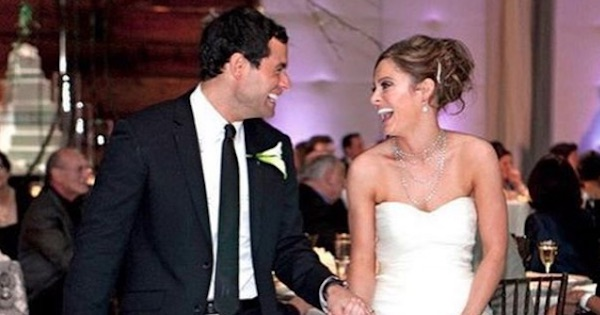 molly malaney and jason mesnick wedding smiling laughing, bachelor nation