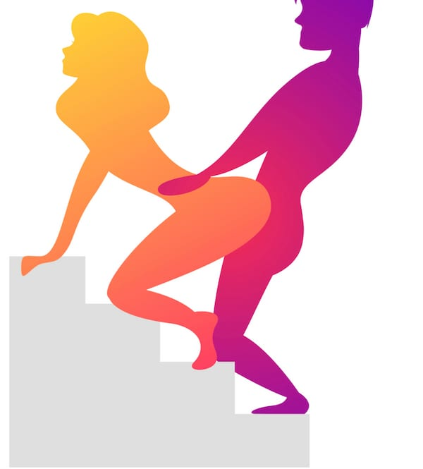 Stairway to Heaven doggy style sex position variation