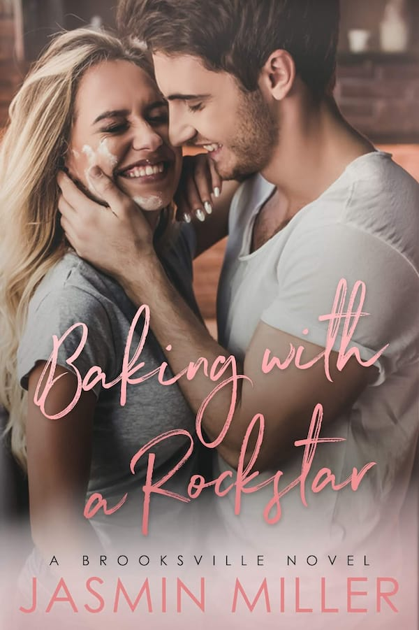 Romance Novels Set in Bakeries, cover of Baking with the Rockstar by Jasmin Miller, books