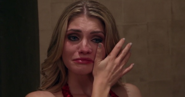 olivia the bachelor funny cry face