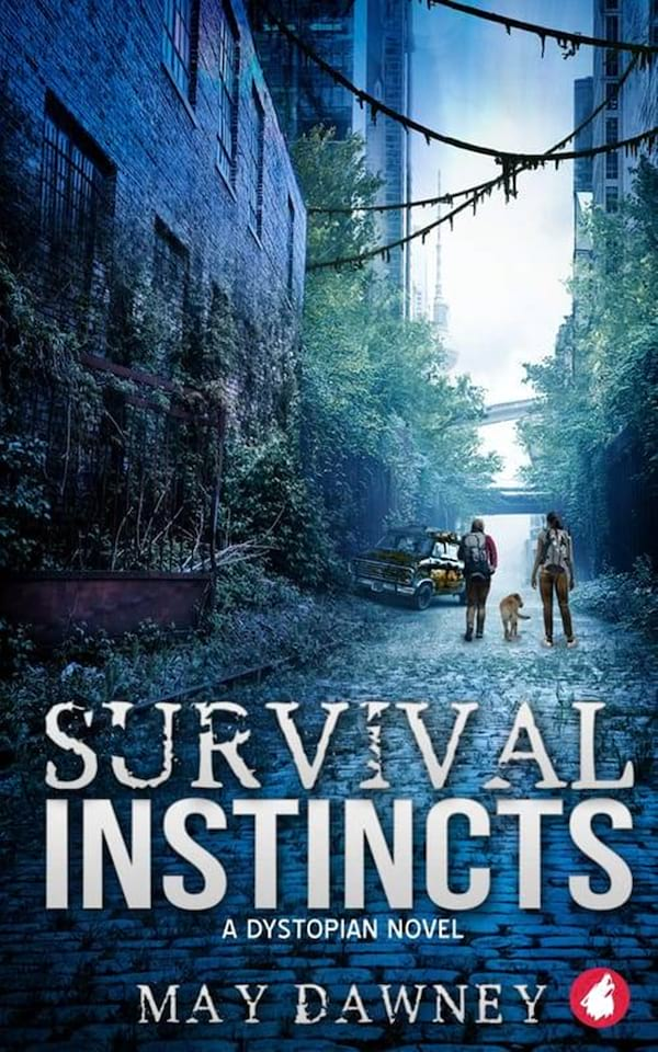 books, cover of Survival Instincts by May Dawney, Dystopian Romance Novels