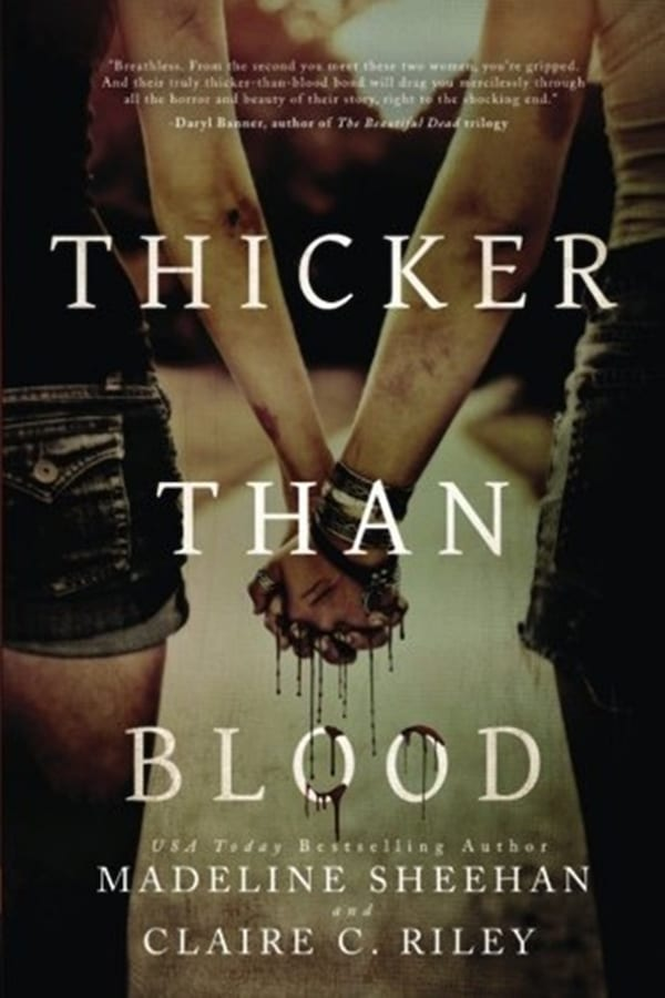 books, cover of Thicker Than Blood by Michelle Sheehan, Dystopian Romance Novel
