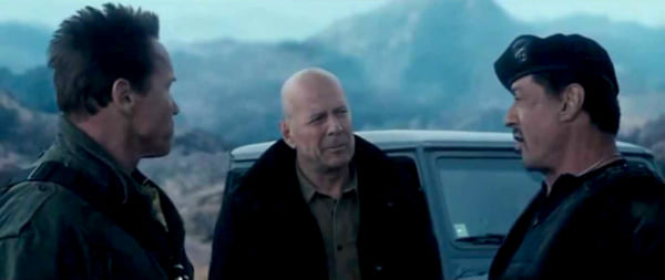 movies, the expendables 2, 2012, bruce willis, Sylvester Stallone, Arnold Schwarzenegger