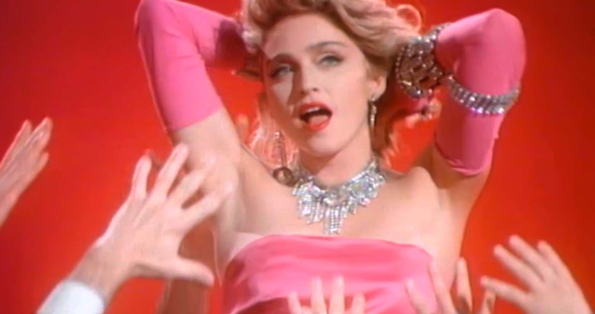 madonna, material girl, glamour, music video, 80s, Music, 1980s