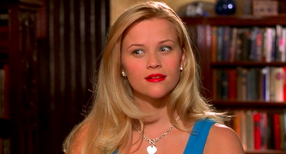 legally blonde, reese witherspoon, elle woods, smart, quiz, hero, blonde, think, thinking, confused