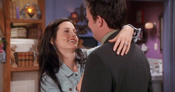 Chandler and Monica together on Friends