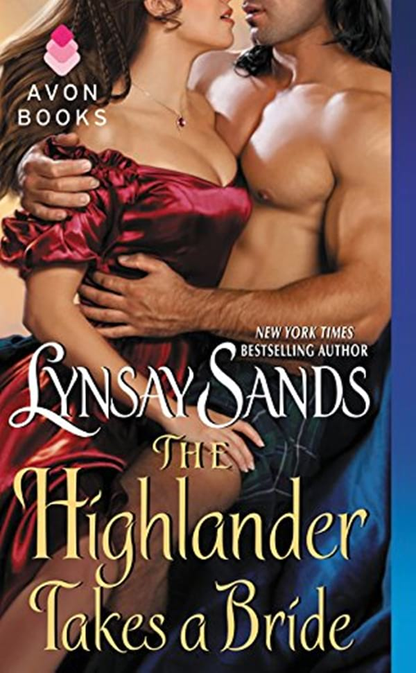 books, cover of The Highlander Takes a Bride by Lynsay Sands, Scottish Romance Novels