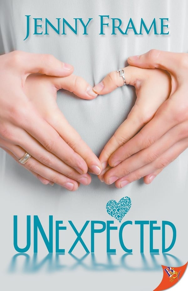 Pregnancy Romance Novels, cover of Unexpected by Jenny Frame, books