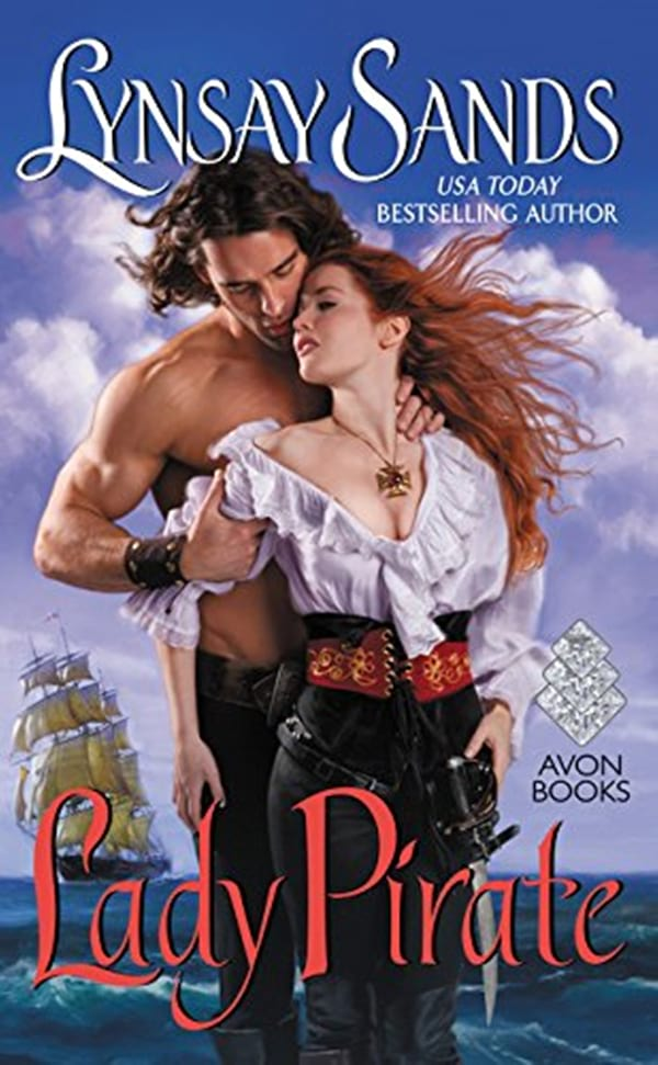 Pirate Romance Novels, cover of Lady Pirate by Lynsay Sands, books