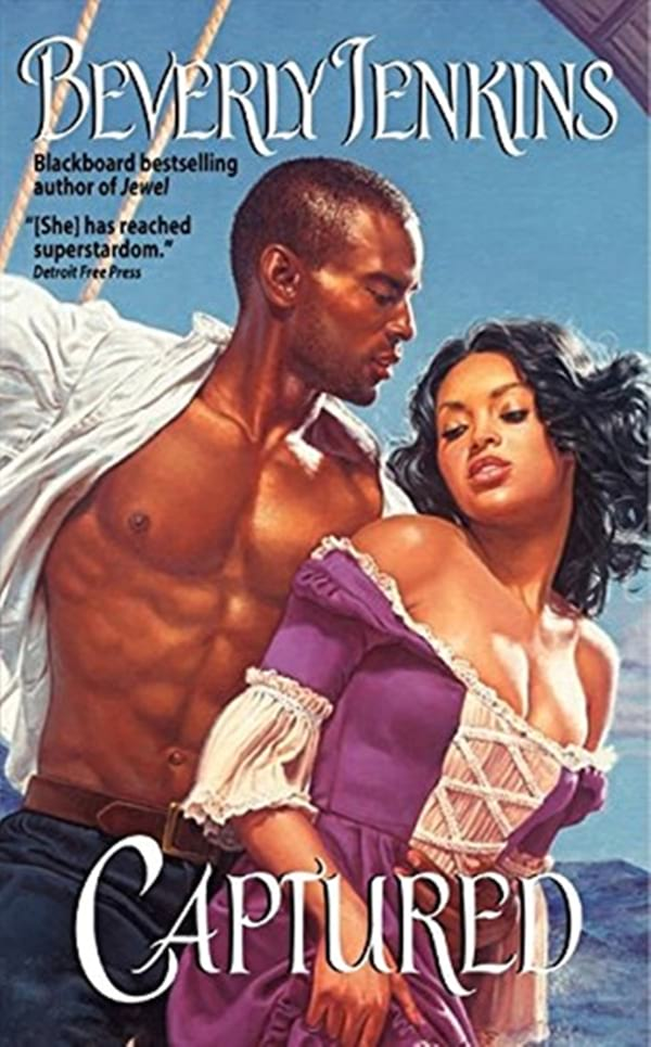 Pirate Romance Novels, cover of Captured by Beverly Jenkins, books