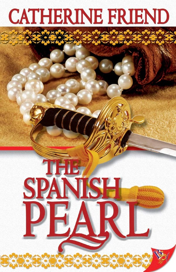 books, cover of The Spanish Pearl by Catherine Friend, Pirate Romance Novels