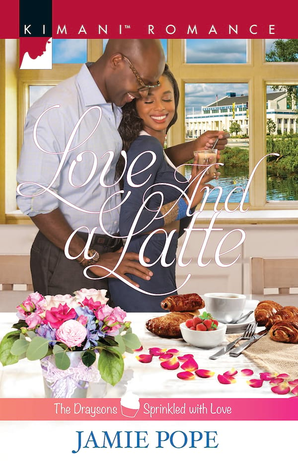 Coffee Shop Romance Novels, cover of Love and a Latte by Jamie Pope, books