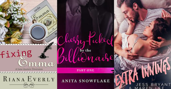books, the covers of three short romance stories, Short Romance Stories