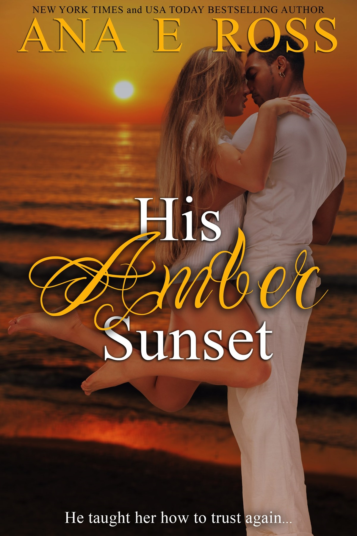 Short Romance Stories, cover of His Ambr Sunset by Ana E. Ross, books
