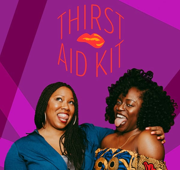 Romance Podcasts, cover image for Thirst Aid Kit podcast, books