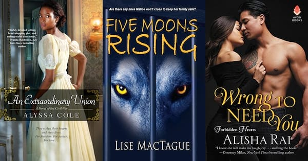 books, covers of three forbidden romance books, Romance Tropes