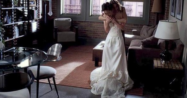 cristina yang in wedding dress meredith hugging her crying