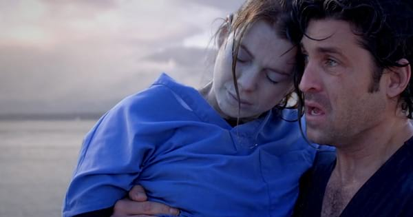 derek holding meredith after she almost drowned grey's anatomy