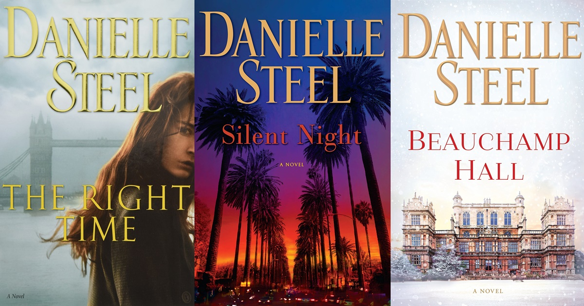 Danielle Steel Books, three book covers of Danielle Steel books, books