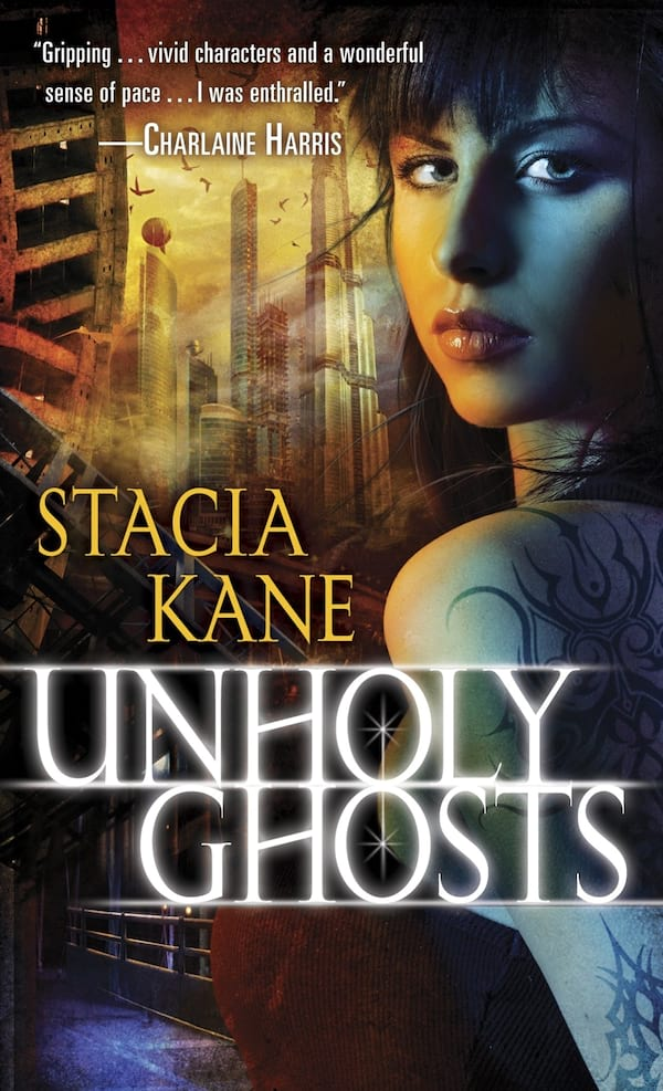 Haunting Romance Novels, cover of Unholy Ghosts by Stacia Kane, books