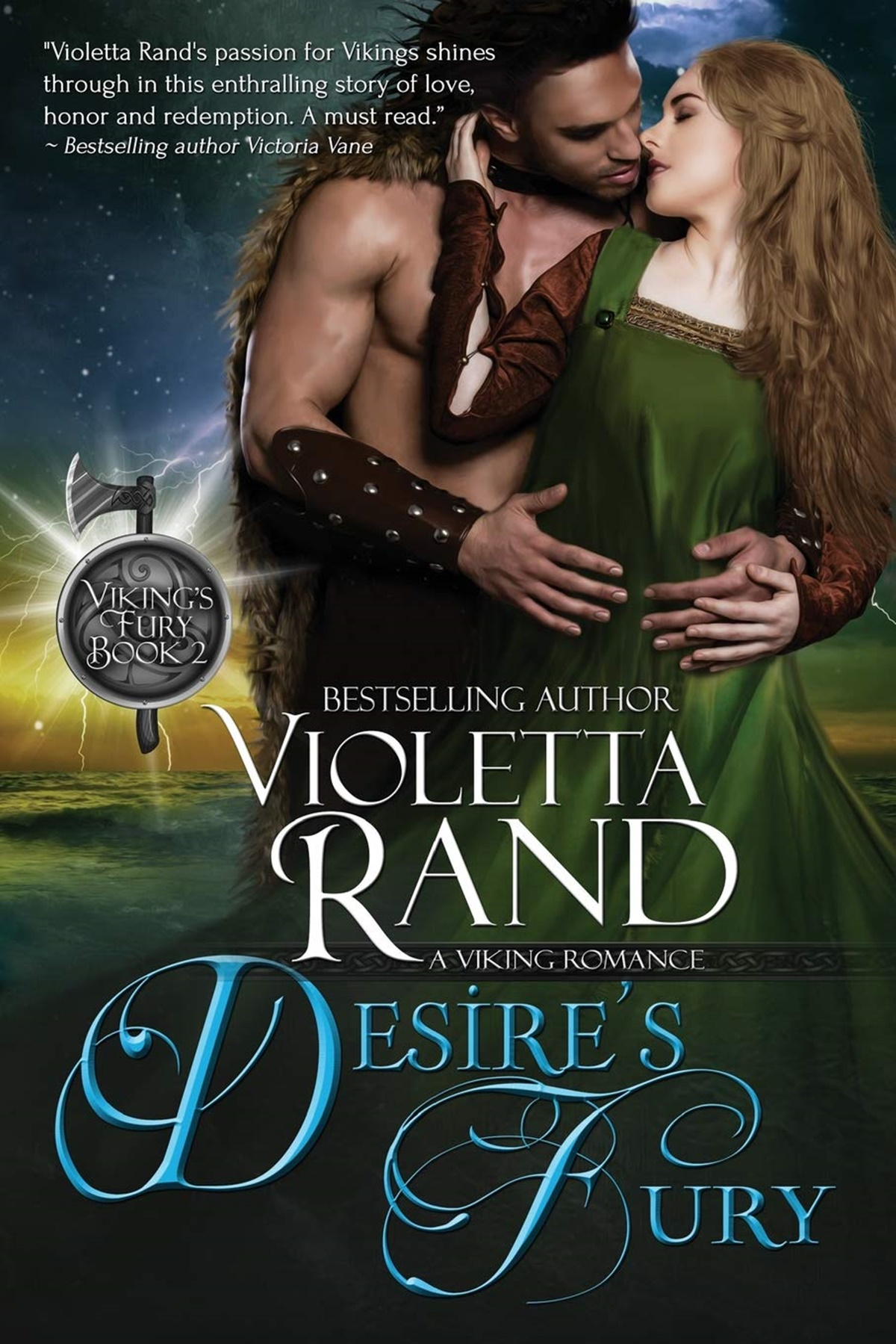 Viking Romance Novels, cover of Desire's Fury by Violetta Rand, books