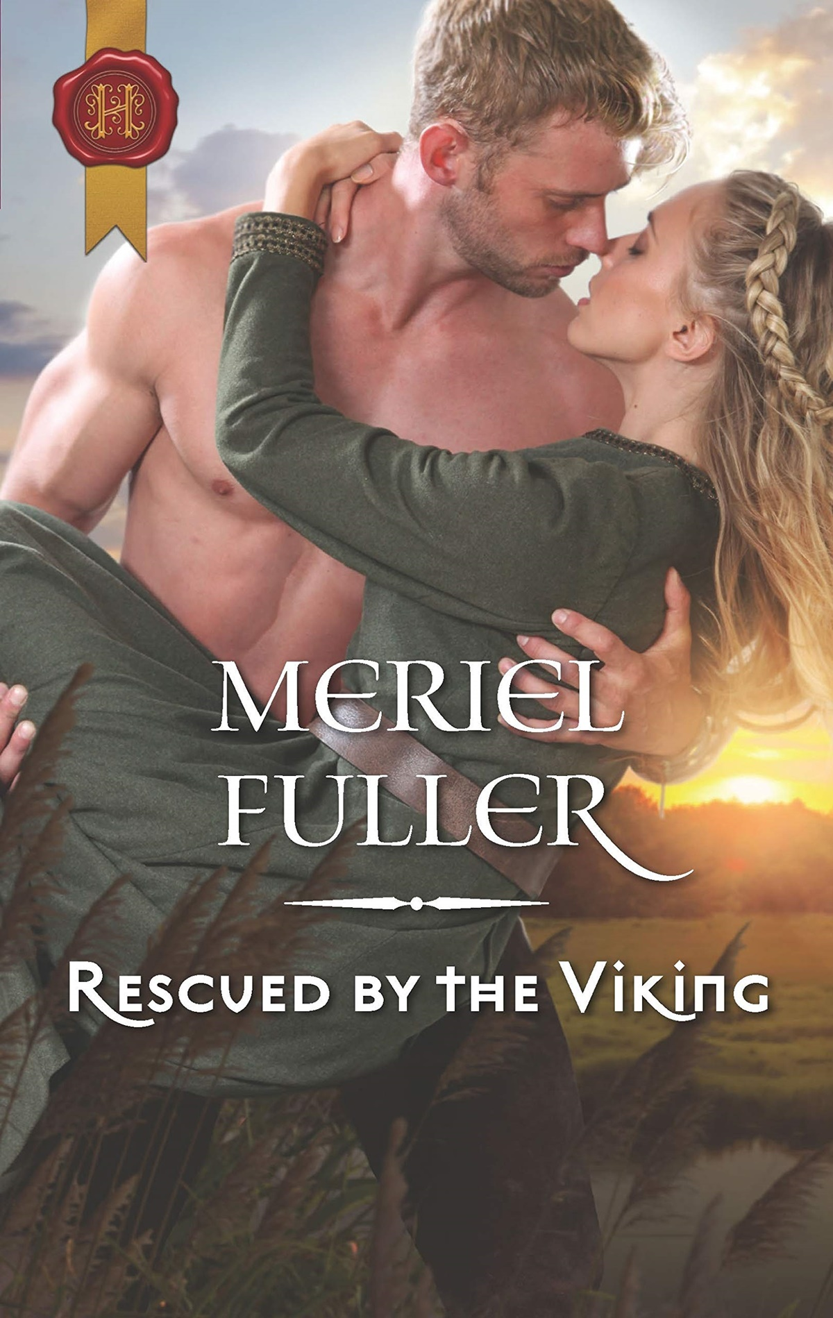 Viking Romance Novels, cover of Rescued by the Viking by Meriel Fuller, books