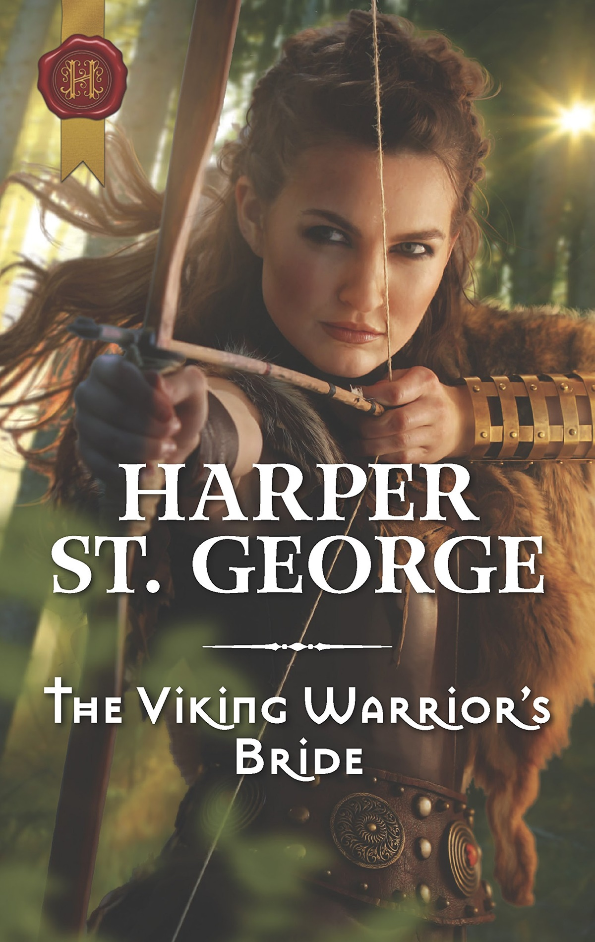 Viking Romance Novels, cover of The Viking Warrior's Bride by Harper St. George, books