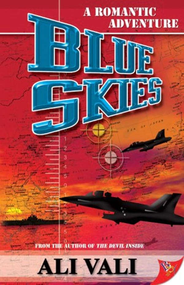 Military Romance Novels, book cover of Blue Skies by Ali Vali, books