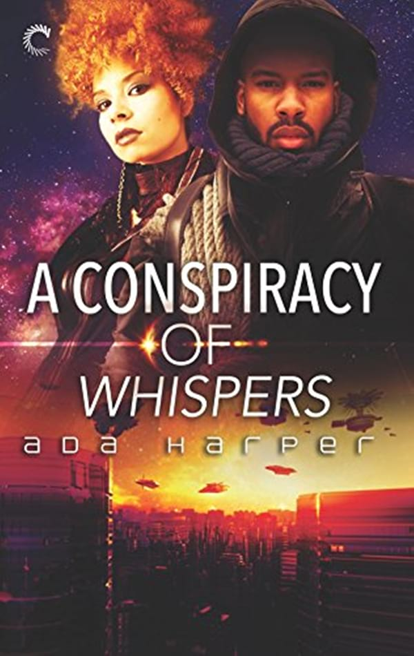 Science Fiction Romance Novels, book cover of A Conspiracy of Whispers by Ada Harper, books