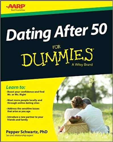 Dating After 50 for Dummies book cover from Amazon