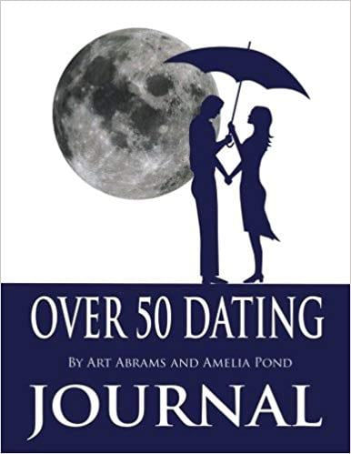 Dating Journal for Over 50 Dating book cover from Amazon