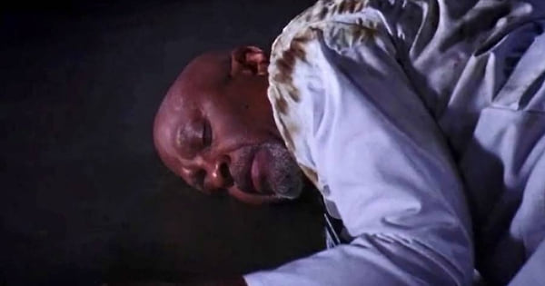 richard webber laying on the ground electrocuted superstorm season 9 grey's anatomy