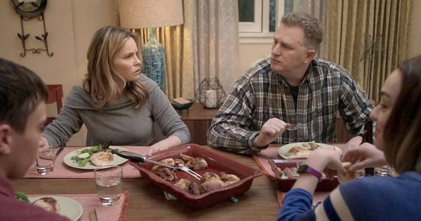 Elsa and Doug eating dinner in a scene from Atypical