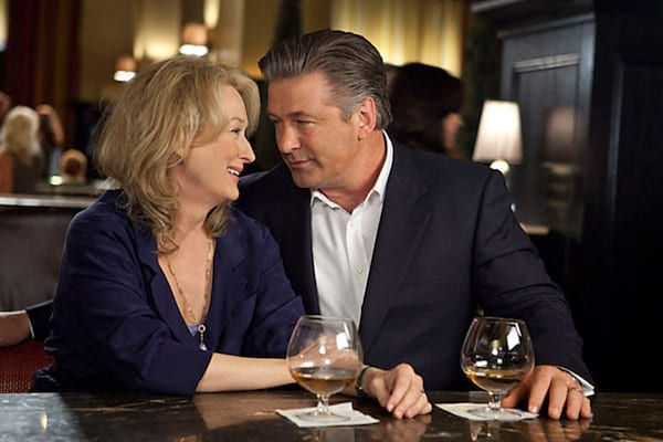 Meryl Streep and Alec Baldwin's characters on a date in It's Complicated