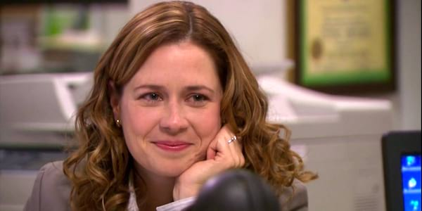 the office, 2160 x 1080, pam, smile, proud, happy, emotional, personality, jessica