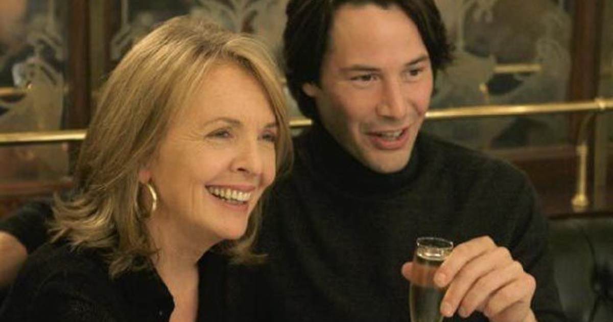 Diane Keaton on a date with Keanu Reeves in Something's Gotta Give