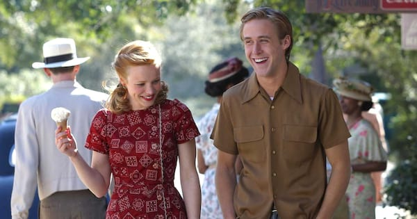 Allie and Noah on a date together in The Notebook