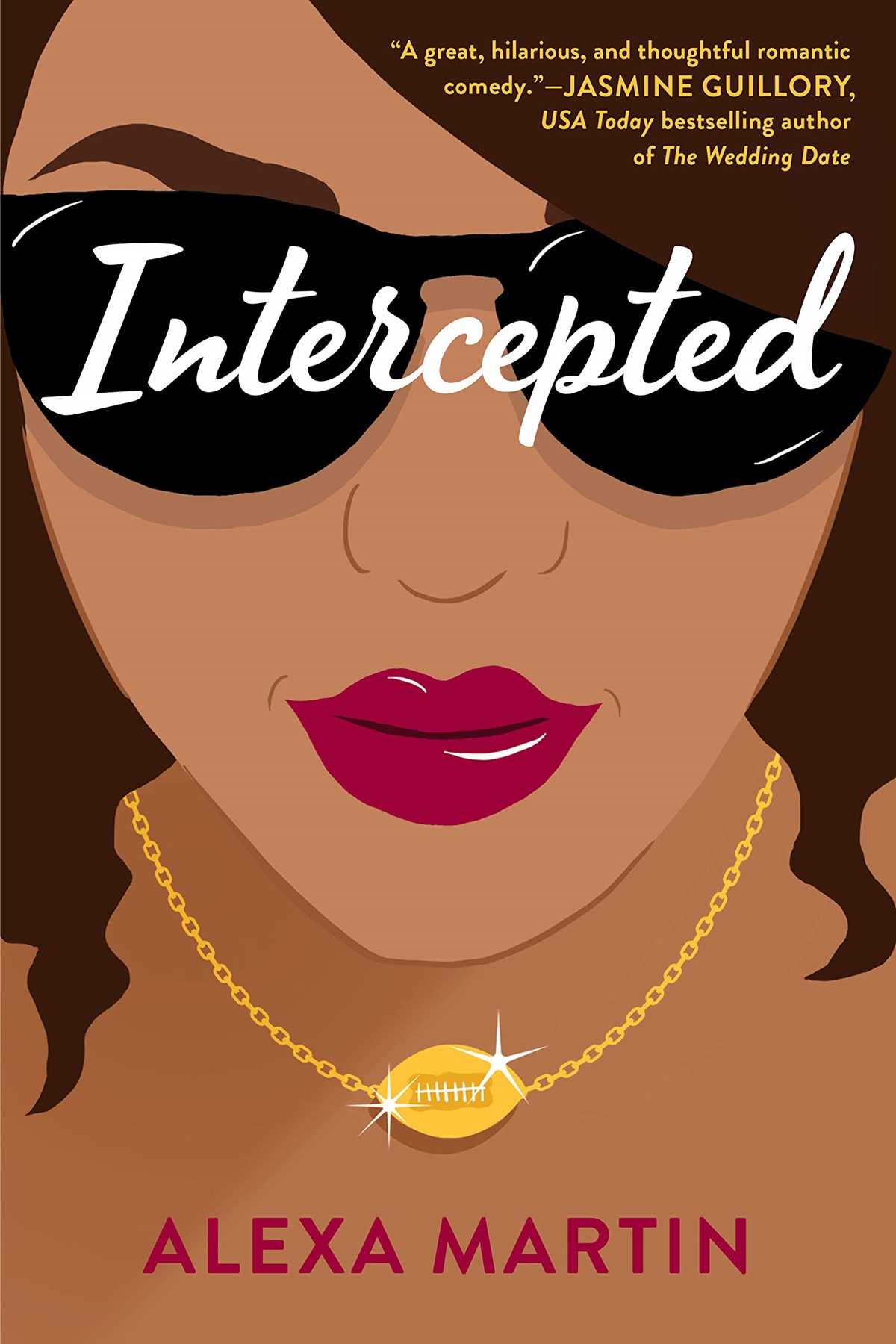 Sports Romance Novels, cover of Intercepted by Alexa Martin, books