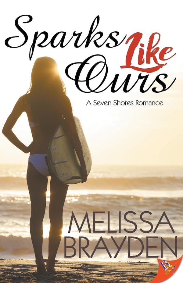 Sports Romance Novels, cover of Sparks Like Ours by Melissa Brayden, books