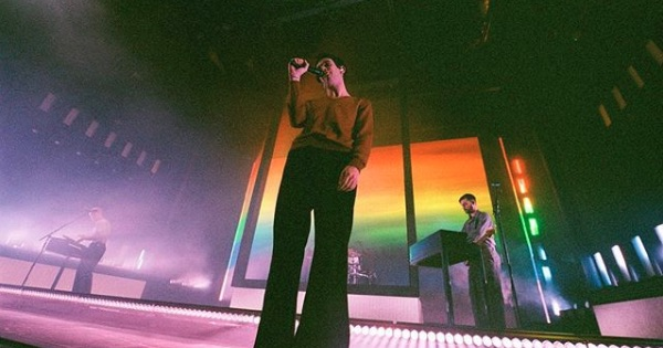 the 1975 performing on stage