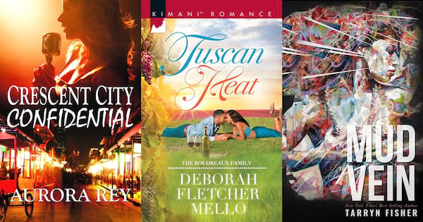 Romance Novels About Writers, three book covers of romance books about writers, books