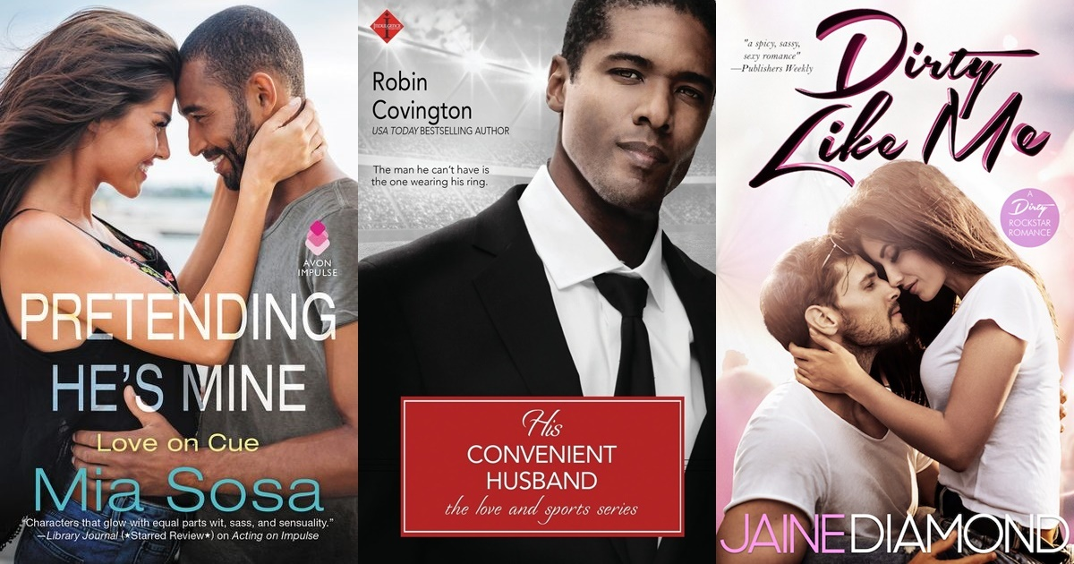 Fake Relationship Romance Novels, three books covers of fake relationship romance novels, books